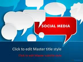 social media powerpoint template free technology templates free it computer powerpoint slide