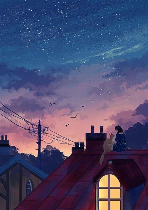 helen warlow  twitter anime scenery aesthetic art