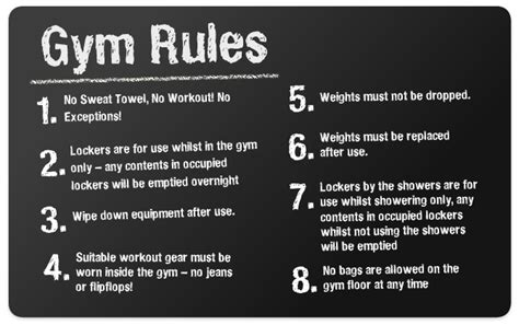 Fitness Gym Floor Plan gym rules gym etiquette
