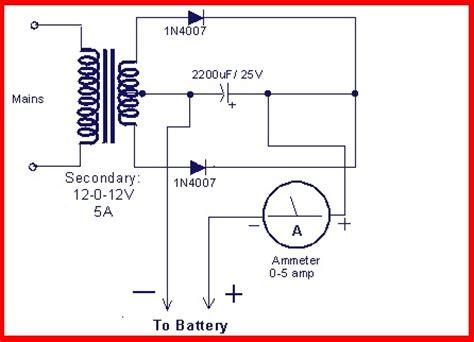 skema rangkaian lifier battere charger circuit