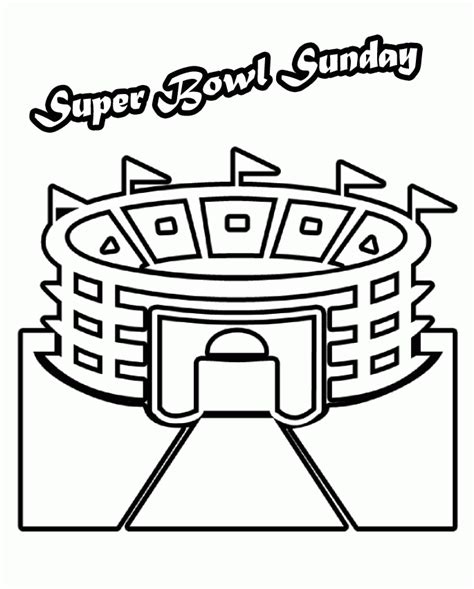 Superbowl Coloring Pages bowl stadium arena coloring pages bowl