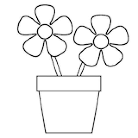Printable Flowers In Pots | relax with these 188 free printable coloring pages for