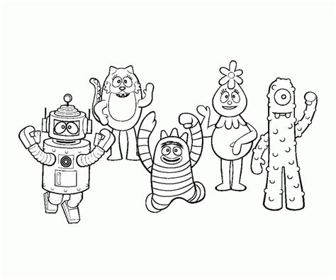 printable coloring pages yo gabba gabba yo gabba gabba printable coloring pages coloring home