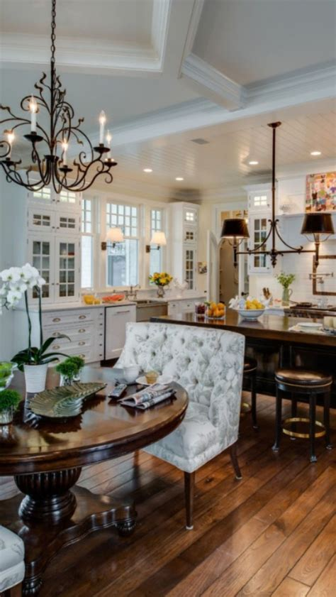 pretty kitchen and dining room with an open floor plan kitchen beautiful kitchen feather your nest pinterest