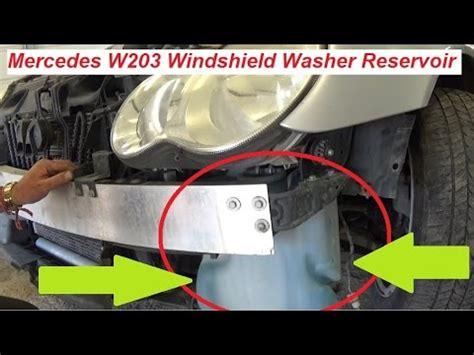 mercedes w203 windshield washer reservoir tank replacement youtube