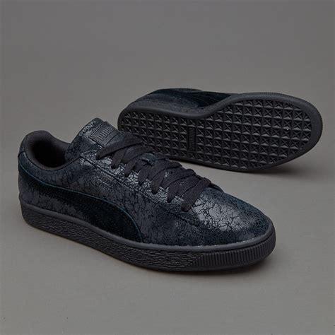 Sepatu Sneakers Suede sepatu sneakers womens suede remastered black