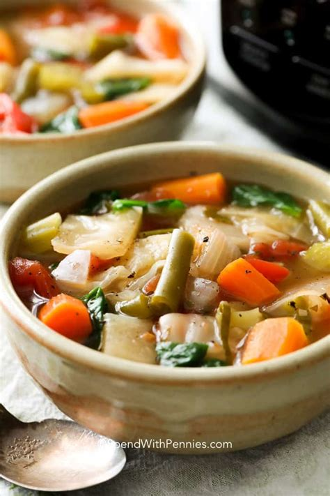 types of vegetable soups cooker cabbage soup spend with pennies