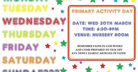 Activity Day On Activity Days faith in god lds activity days activity days is it right on a sundae