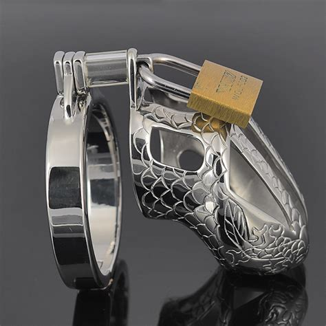 men wearing chastity cage new stainless steel chastity device cock cage metal