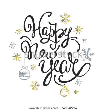 doodle happy new year happy new year card lettering stock vector 513174769