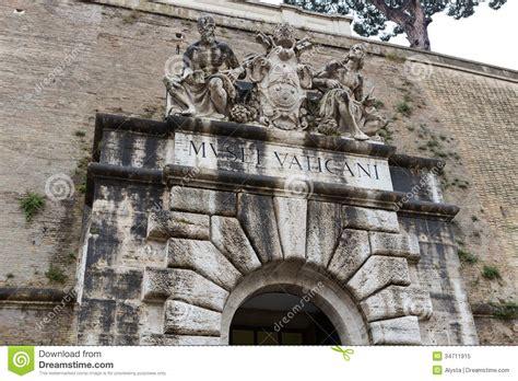 entrada al vaticano entrada del museo del vaticano foto de archivo libre de