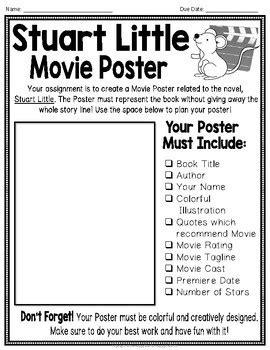 Stuart Little Project: Make a Movie Poster! {Stuart Little