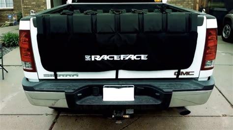 bike rack for truck tailgate raceface pickup truck tailgate crash pad review bike rack
