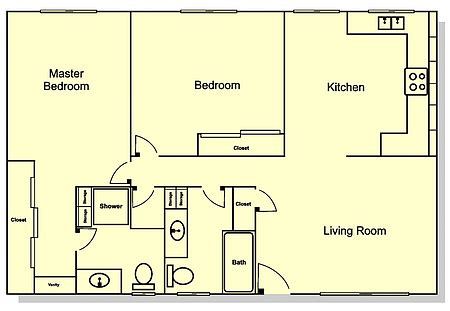 2 br 2 bath house plans numberedtype 3 bedroom 2 bathroom house floor plans 3 bedroom 2