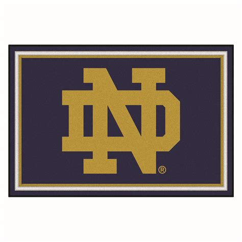 Rug Logo by Of Notre Dame Nd Logo Area Rug 5 X 8