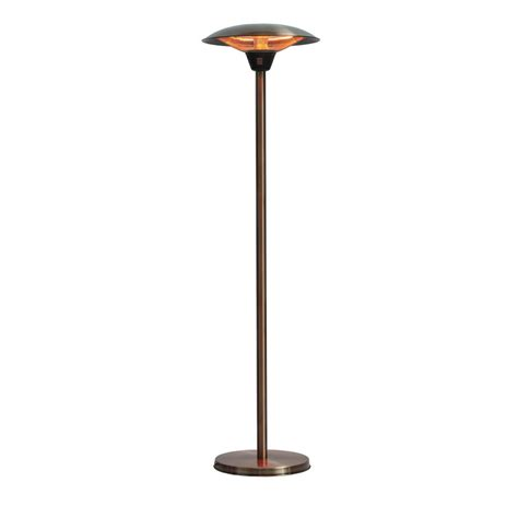 Fire Sense Halogen Patio Heater Fire Sense Frisco 1 500 Watt Brushed Copper Colored