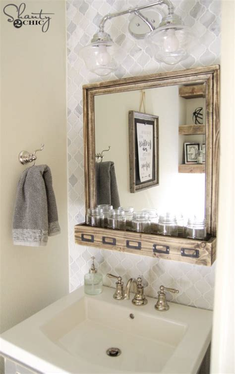 Floating Vanity Plans diy bathroom vanity shanty 2 chic