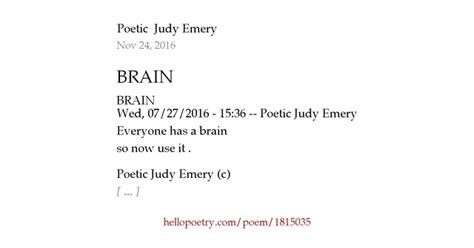the brain by jg collins hello poetry brain by the of darken dreams hello poetry