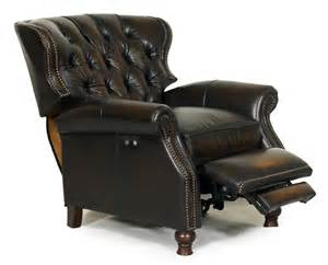 presidential all leather power recliner stetson coffee
