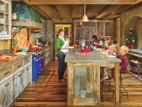 Rustic cabin kitchen myhomeideas com