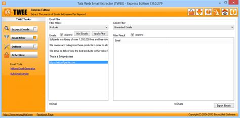 Email Web Search Tala Web Email Extractor Twee Express Edition
