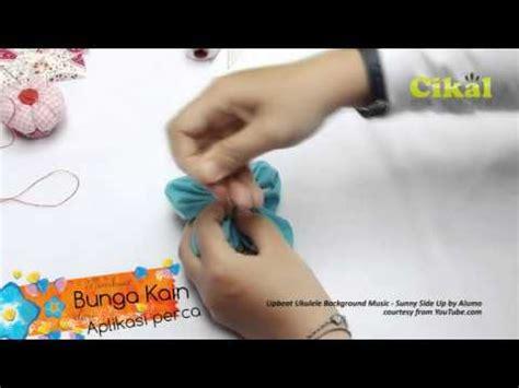 Aplikasi Bunga Flower Kain Perca sulam benang phim clip