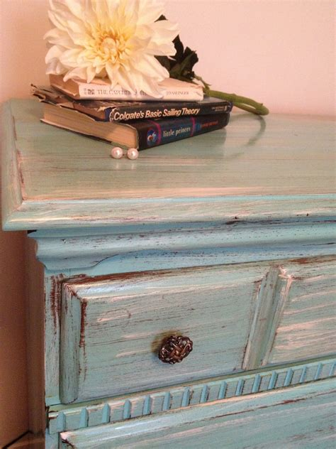 Distressed Painted Furniture Ideas Design Cozy Design Distressed Turquoise Furniture Dresser Painted By Therusticriver Furniture Idea