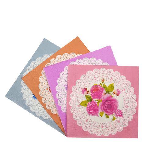 Tempat Tissue Decoupage Pink vintage napkin paper tissue purple pink blue white