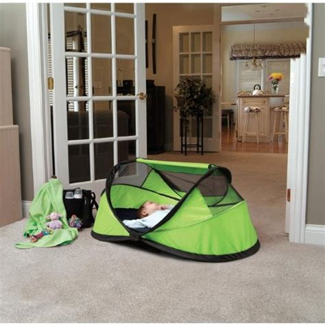 Peapod Travel Crib by Bed For Kidco Peapod Portable Self Inflating Travel Bed Lime