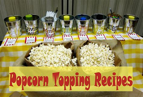 popcorn bar toppings fresh juniper popcorn topping recipes