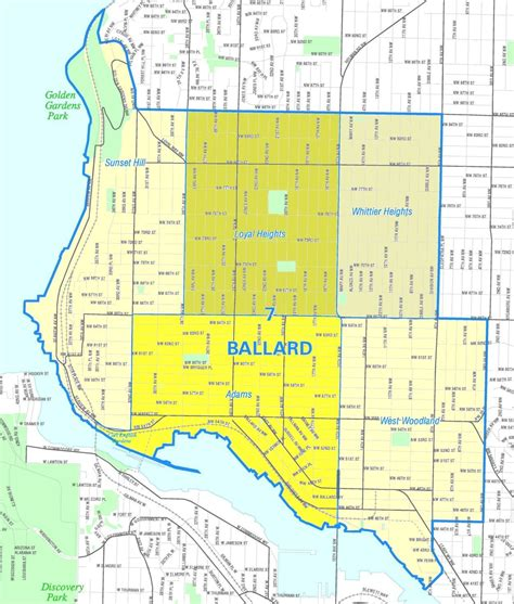 seattle map go a look at seattle s ballard neighborhood