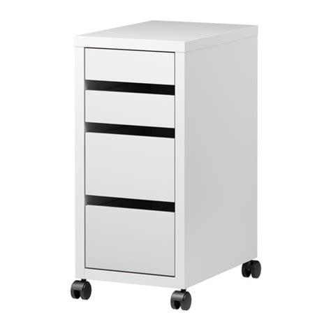 micke caisson 224 tiroirs sur roulettes blanc ikea