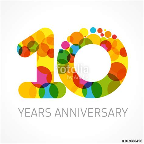 10 year anniversary color quot 10 years anniversary circle color logo template logo