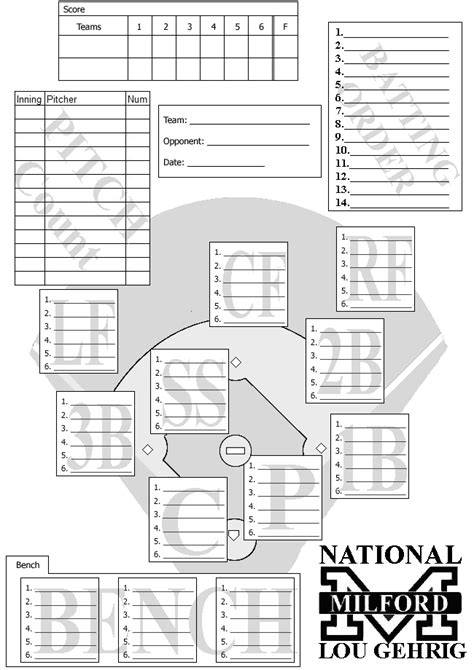 baseball card template docs documents milford league milford connecticut