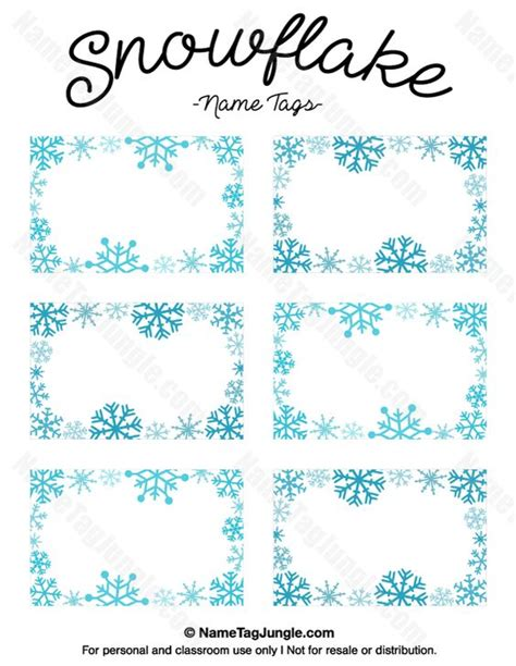 printable snowflake tags printable snowflake name tags download them at http