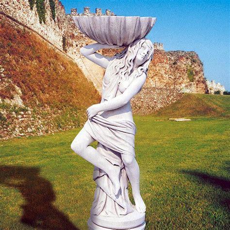 statuette da giardino fanciulla con conchiglia produzione statue da giardino