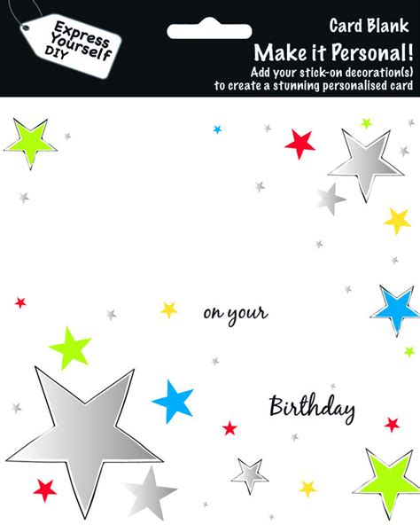 make personal cards make it personal blank card on your birthday