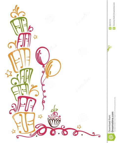 birthday border stock vector image of greeting festive