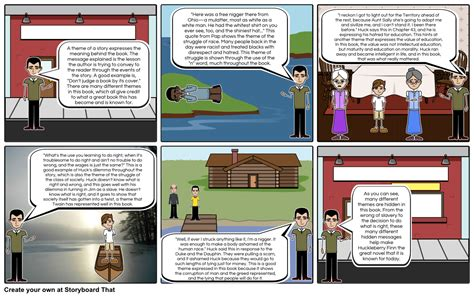 huckleberry finn important themes huck finn figurative language themes storyboard
