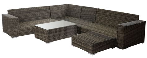 luxus poly rattan sofa garnitur melilla lounge set