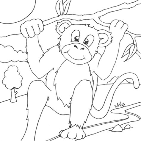 cute monkey coloring pages coloring part 3 cute monkey coloring pages coloring part 4