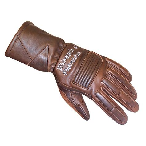 ladies motorcycle gloves women s viking brown leather bike gloves