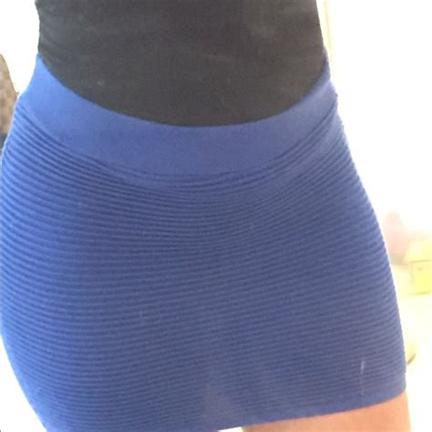 royal blue mini skirt s from s closet on poshmark
