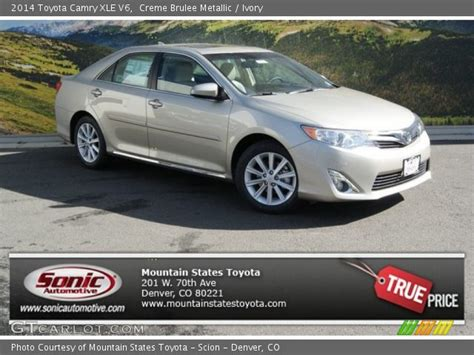 2014 Toyota Camry Xle V6 Creme Brulee Metallic 2014 Toyota Camry Xle V6 Ivory