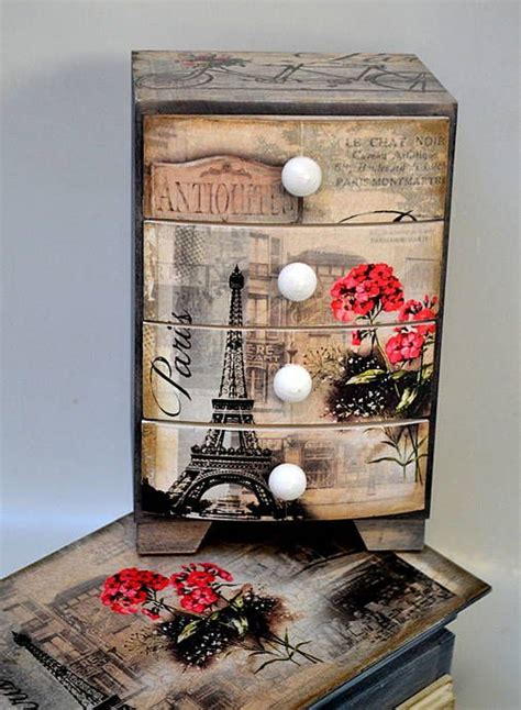 decoupage newspaper on wood 220 best images about decoupage on trinket