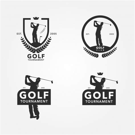 free golf logo design golf player vectors photos and psd files free download