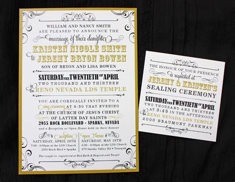 lds wedding temple invitation wording lds wedding invitation wording theruntime