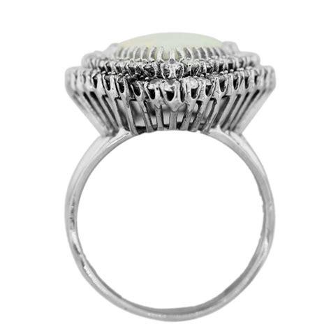 18k white gold pear opal ring raymond jewelers