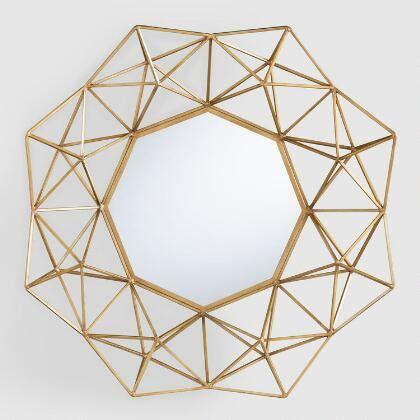 gold mirror pattern mercury glass ball curtain rod world market