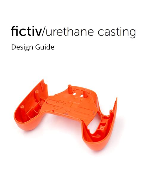 design guidelines casting fictiv urethane casting